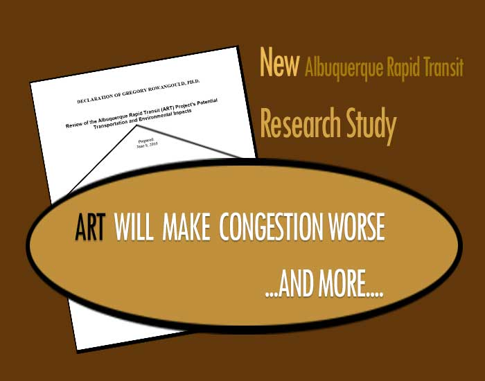 New research study targeting ART project: G. Rowangould Ph.D.