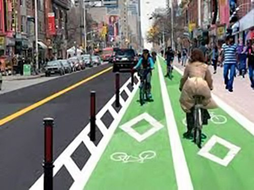 Bike Lane Rendering
